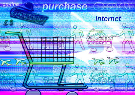 trolly: E-commerce  Stock Photo