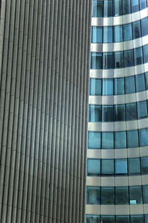 facades details of two different modern building  photo