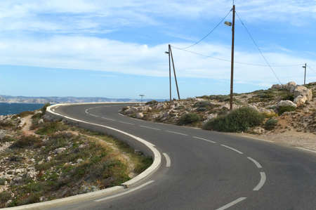 Curved road photo