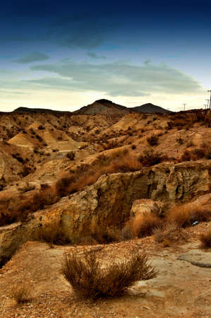 andalucia: Desert in andalucia Stock Photo