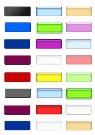 set of web button Stock Photo