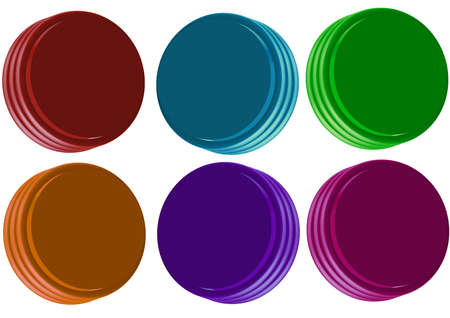 virgin colored  buton for internet navigation or any soft Stock Photo - 4037429