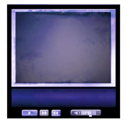 monitor, border, for web video... element for website