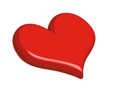 isolate heart Stock Photo
