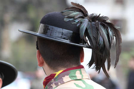 fanfare: a soldier from behind with the typical helmet