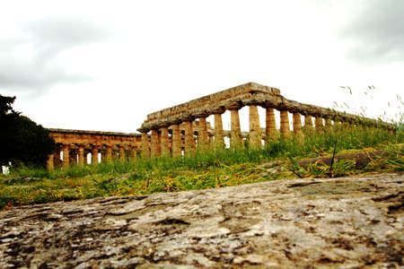 roman pillar: the ancient temples at Paestum