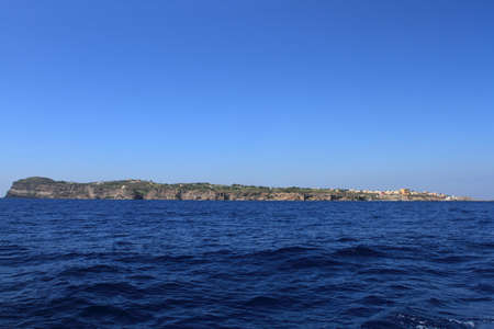 the profile of the island of Ventotene