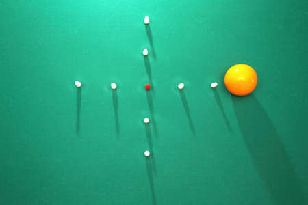 snooker tables: Italian billiards - bowling pins and balls