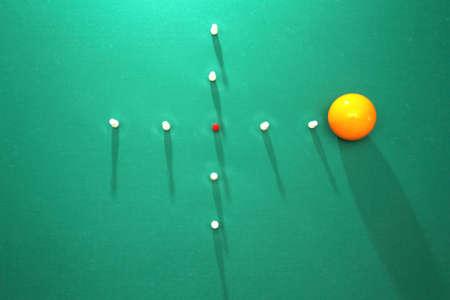 billiards room: Italian billiards - bowling pins and balls