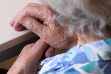 grandmother: hands of an elderly grandmother Stock Photo