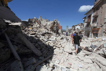 tragedies: The earthquake in Amatrice on septembre, 24th 2016