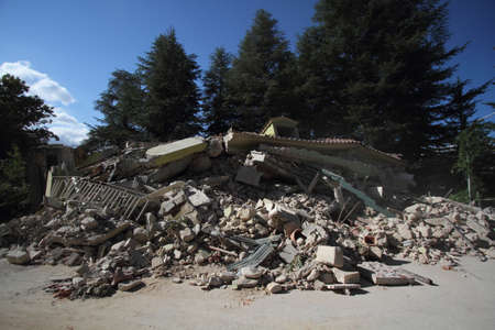 The earthquake in Amatrice on septembre, 24th 2016