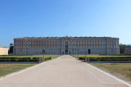 The entrance of the Royal Palace of Caserta