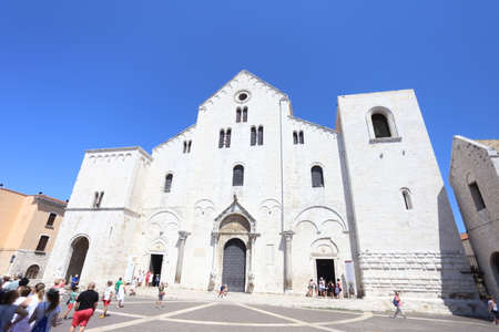 Bari, Italy - 15 July 2019: The Basilica San Nicola