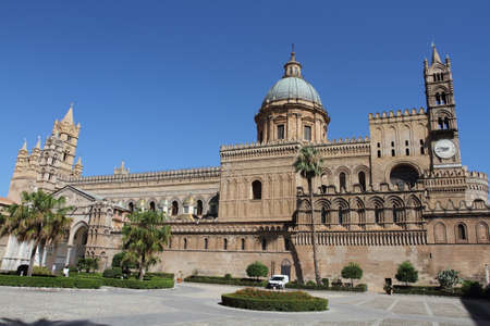 Palermo, Italy - June 29, 2016: The cathedral of Palermo