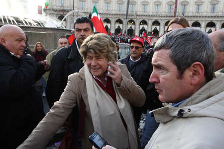 Susanna Camusso participates in the national demonstration of CGIL in Rome November 27, 2010