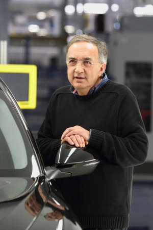 Cassino - Italy - 24th november 2016 - The CEO Fca Sergio Marchionne in the plant