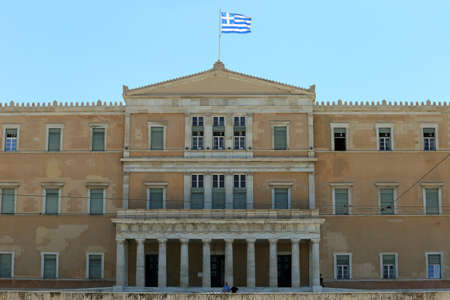 Athens, Greece - July 20, 2019: The seat of the Hellenic parliament Editoriali