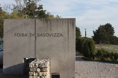 Trieste, Italy - April 22, 2017: The foiba di Basovizza, a national monument