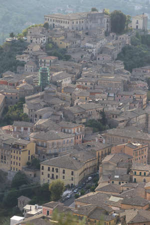 Arpino, Italy - September 16, 2020: View of the city from Editoriali