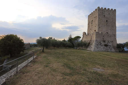 Arpino, Italy - September 16, 2020: The acropolis of the ancient