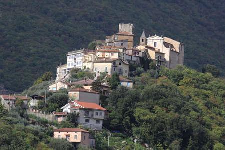 Belmonte Castello, Italy - October 15, 2020: The village of Belmonte Castello in the province of Frosinone Editoriali