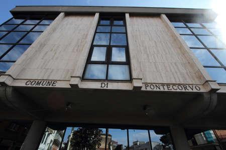 Pontecorvo, Italy - February 25, 2013: the seat of the town hall Editoriali