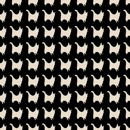 refine: Seamless pattern of cat silhouettes in black and beige colours. illustration for various creative projects