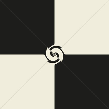 curving: Abstract seamless pattern in black and beige colours. Beautiful vector illustration to create a stylish unusual design
