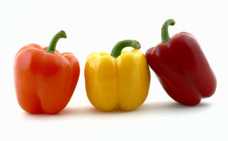 Three bell peppers photo