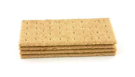 graham:  Nice view of a group of four stacked graham crackers.