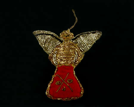 angel tree: A great view of a very old angel tree ornament.