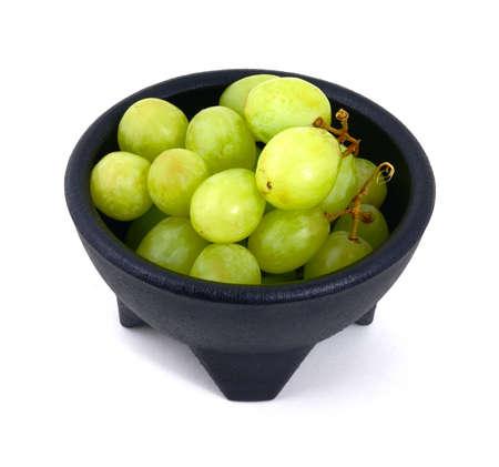 invitando: Una gran vista de un taz�n de invitaci�n de la uva.