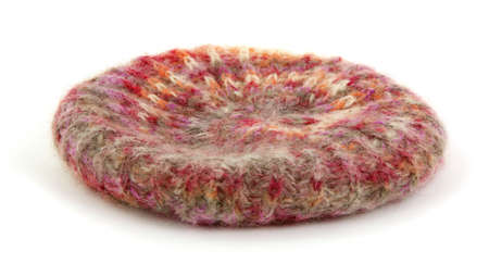 tam: A nice colorful view of a warm mohair tam.