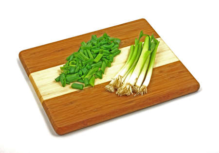 adaptable: A nice view of chopped young green onion tops.