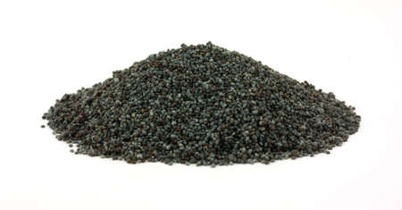 A great front view of a group of poppy seeds. photo