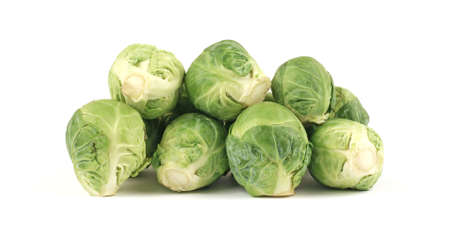 brussel: A group of fresh healthy brussel sprouts.