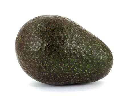 A nice view of a whole fresh avocado. photo