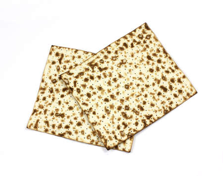 A nice overhead view of two large matzo crackers. Stock Photo - 7069831