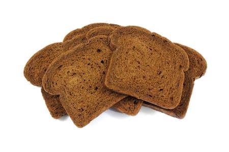 pumpernickel: Stos chleb świeżego Pumpernikiel pociętego na plasterki.