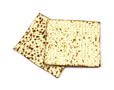 The top and bottom of a large square matzo cracker. Stock Photo - 7069830