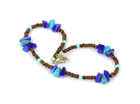 An interesting colorful bracelet from the past. photo