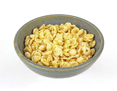tempting: Looking down at a tempting bowl of dry cereal.