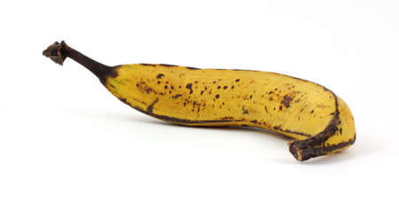 plantain: A nice view of a ripened plantain banana. Stock Photo
