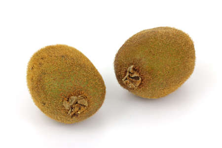 fibrous: A nice view of the fibrous skin of the kiwi fruit. Stock Photo