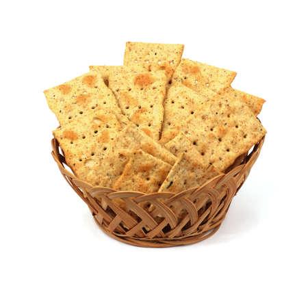 A nice view of crispy seasoned wheat crackers. Stock Photo - 7782711