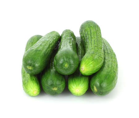 A front view of small seedless cucumbers. Stock Photo - 7782728