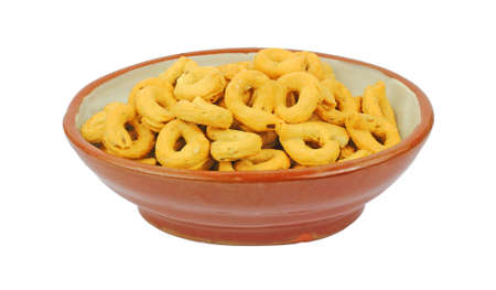 satisfying: A bowl of hearty satisfying fennel flavored snack rings.