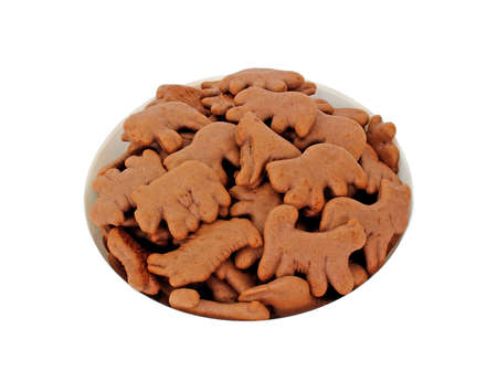tempting: A tempting variety of chocolate animal cookies.  Stock Photo