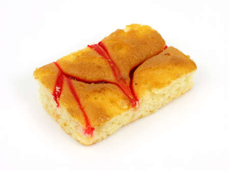 tempting: A tempting slice of delicious raspberry cheesecake.